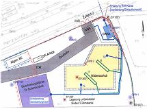 Planskizze der Baustelle