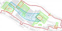 Abbildung mit Darstellung der Sanierungszonen Boden (SZ 1 bis SZ 3.2) und Grundwasser (SZ 5)