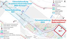 Abbildung mit Sanierungszone Grundwasser (SZ 5) mit Teilelementen