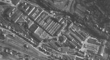 Luftbild vom 21.06.1953 mit Ansicht des östlichen Bereiches des VEB Fahrzeug- und Gerätewerk Simson Suhl