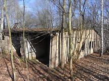 Lagergebäude vor dem Abbruch